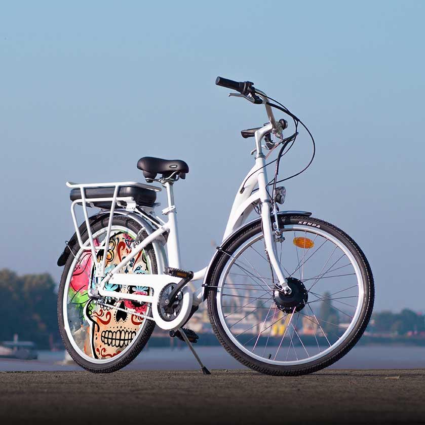 Vélo à assistance électrique de collection. Ce vélo de ville au design Esqueleto est de fabrication 100% française. Pour vos déplacements urbains sobres et efficaces