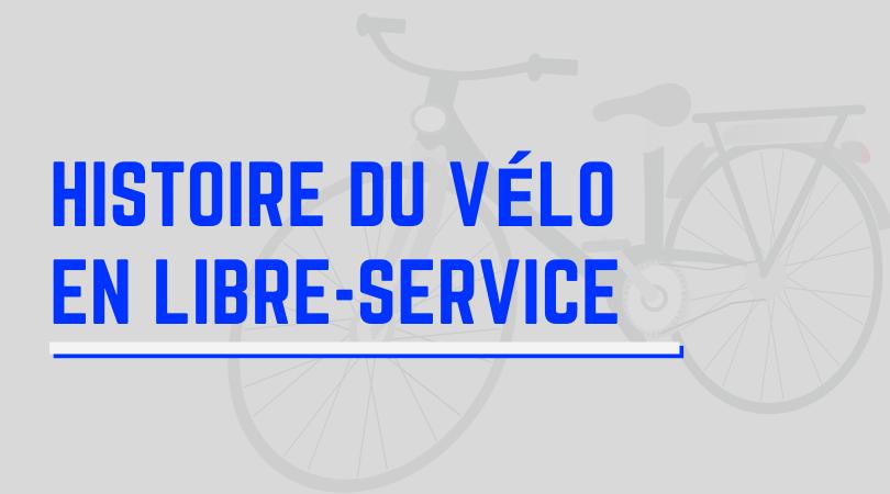 histoire du vélo en libre-service