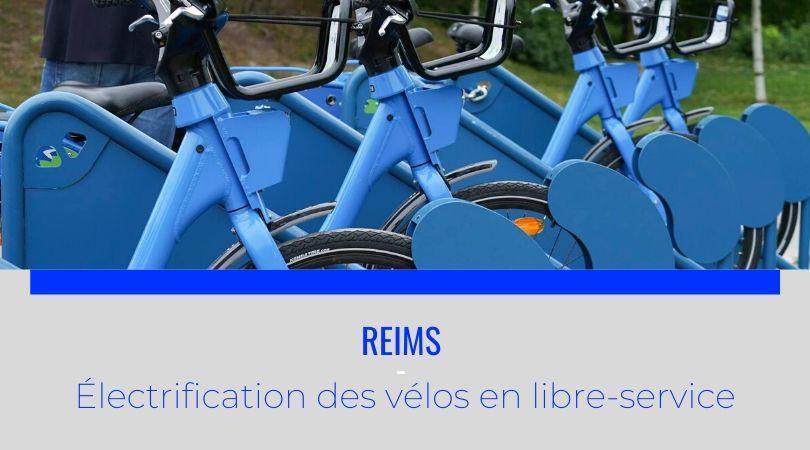Reims - électrification des vélos en libre-service