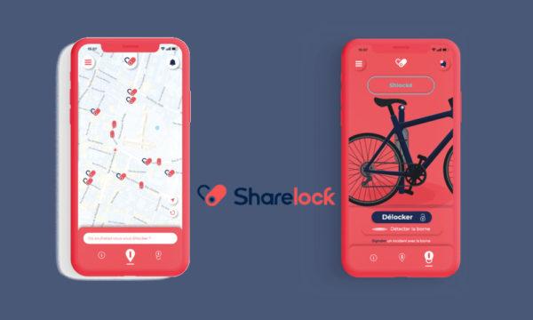 Application Sharelock et map démonstrative des cadenas connectés et partagés