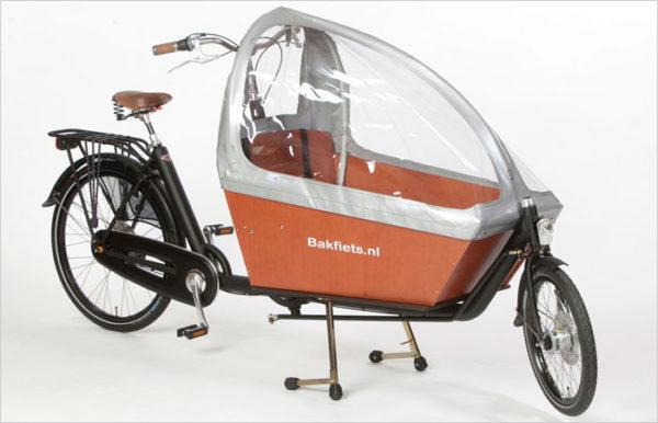 Modèle de vélo cargo biporteur