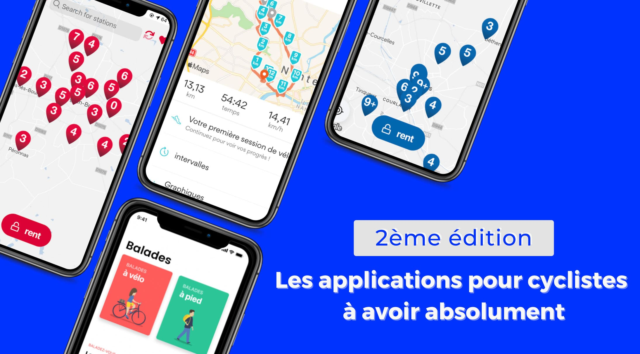 image sélection d'applications pour cyclistes