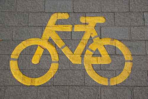 Signalisation vélo sur sol