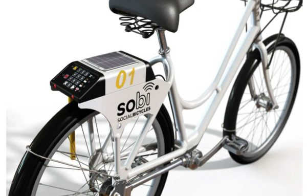 lime social bicycle ancien e-bike vue de dos