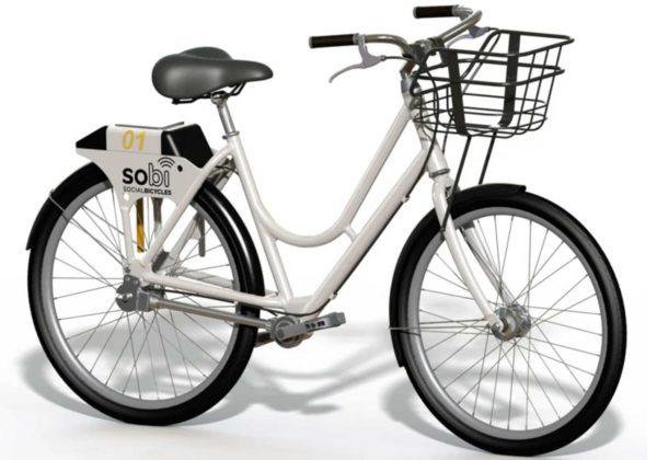 lime anciennement social bicycle e-bike vue de front