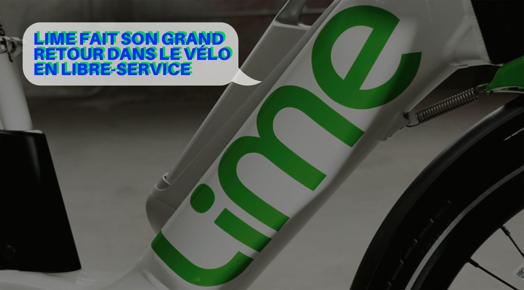 Lime investis dans le vélo libre-service européen