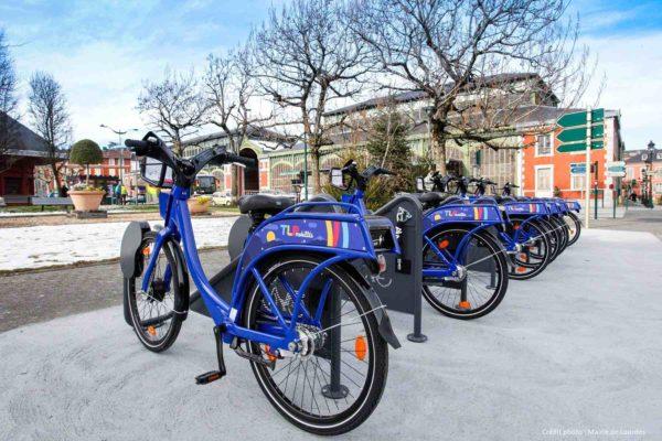 Station de vélos en libre-service Tarbes-Lourdes-Pyrénées