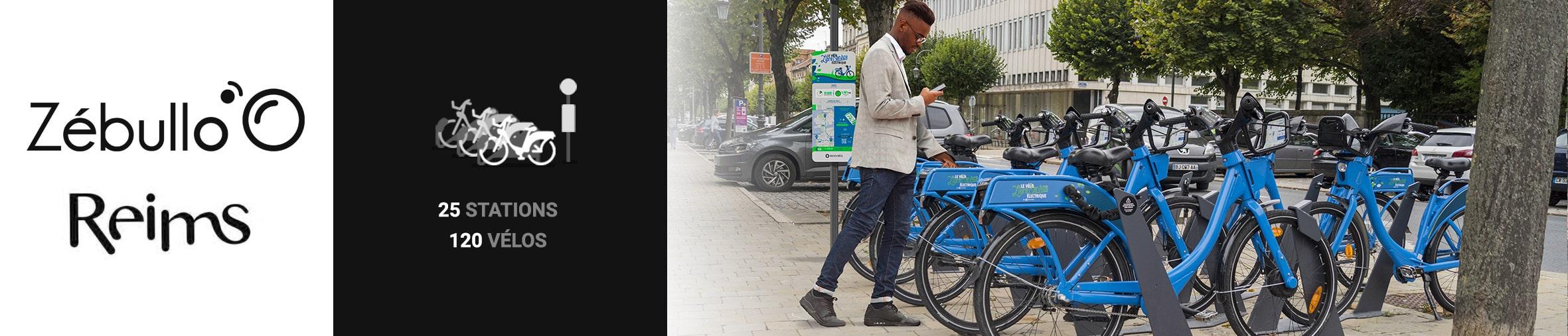Vélos en libre-service à Reims : 25 stations, 120 vélos
