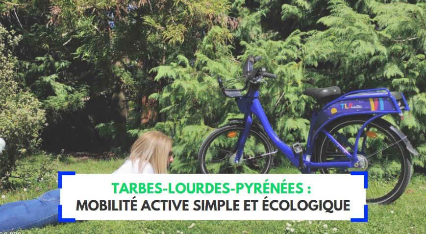 Jeune fille avec un vélo Tarbes-Lourdes-Pyrénées