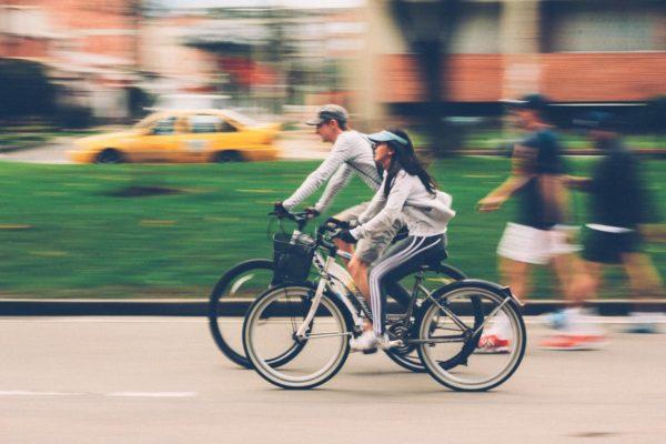 Vélos dans la rue